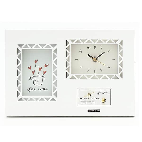 フォトフレーム付きオルゴール プライムタイム 時計付き