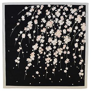 綿小風呂敷 しだれ桜 尺三巾(W500×H500mm)