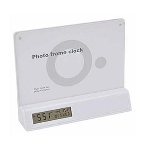 カレンダー・温度計・時計付フォトフレーム