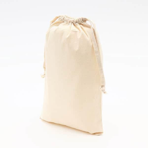 無漂白コットン巾着 Mサイズ マチなし (既製品) 380×260mm
