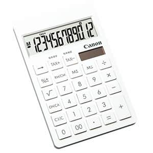キヤノン 名入れが目立つ ピュアホワイト電卓 12桁 SI-1200T