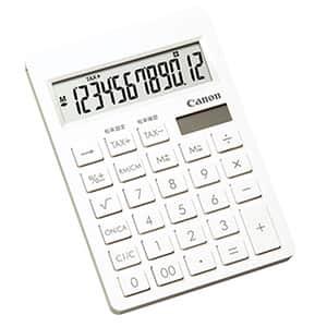 キヤノン 名入れが目立つ ピュアホワイト電卓 コンパクト 12桁 SI-120T
