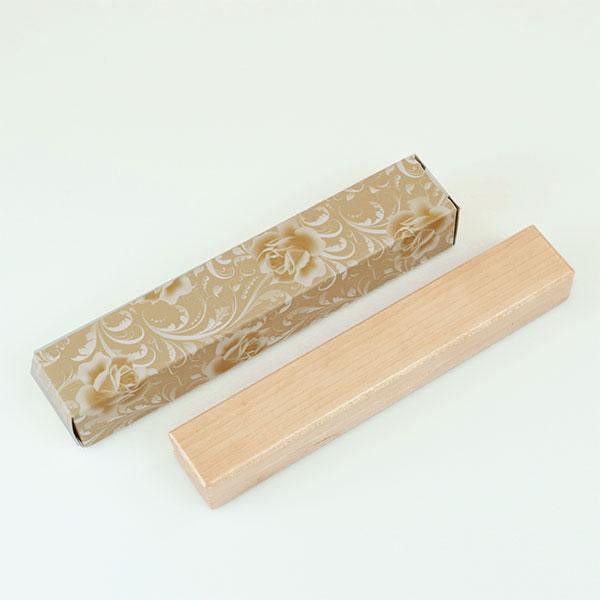 木製太軸ボールペン ペンケース付 ナチュラル色 包装箱入り
