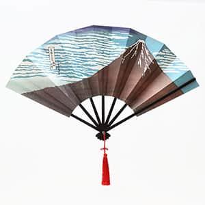 飾り扇子 版画扇 北斎赤富士