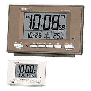 セイコー 目覚まし時計 自動点灯機能付き SQ778