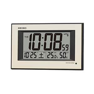 セイコー デジタル電波掛け時計 自動点灯機能付き SQ438G