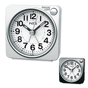 セイコータイムクリエーション社製 PYXIS(ピクシス)ライト付き目覚まし時計 NR437