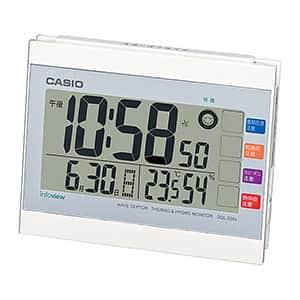カシオ 生活環境お知らせ機能付き 卓上デジタル電波時計 ホワイト DQL-220J-7JF