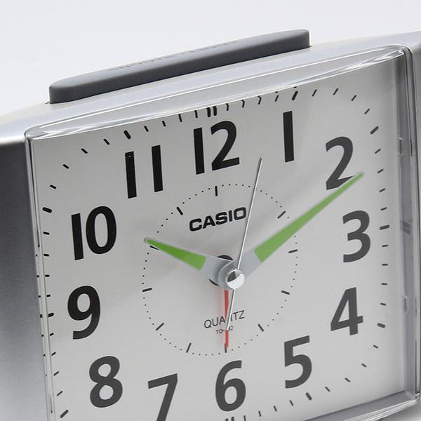 カシオ アナログ目覚まし時計 ベル音タイプ ブラック シルバー