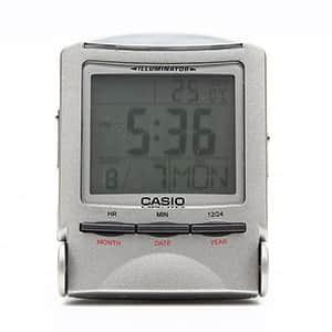 カシオ アラーム付きデジタルトラベルクロック 電子音タイプ PQ-50J-8