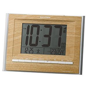 リズム 大型文字版 掛け置き兼用電波時計