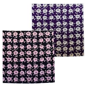 ふろしき 中巾 椿 墨色 紫根色