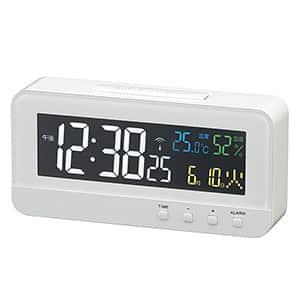 MAG 電波目覚まし時計 カラーハーブ 4色液晶表示