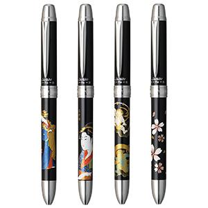 プラチナ万年筆 ダブル R3 アクション サラボ 近代蒔絵 多機能ペン 0.5mm 回転式