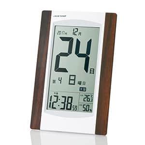 デジタル日めくり電波時計 掛け置き兼用 日付表示大