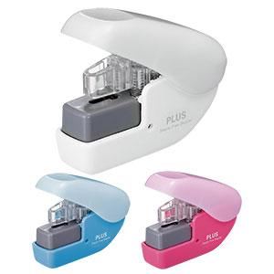 プラス ペーパークリンチミニ 針なしホッチキス 本体5色展開