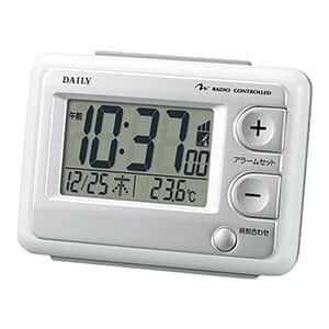【在庫限り20台】リズム デイリー 目覚まし電波時計 ジャストウェーブ 8RZ095