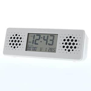 リズム デジタル時計 アクアプルーフ ミュージック 8RDA73RH 白