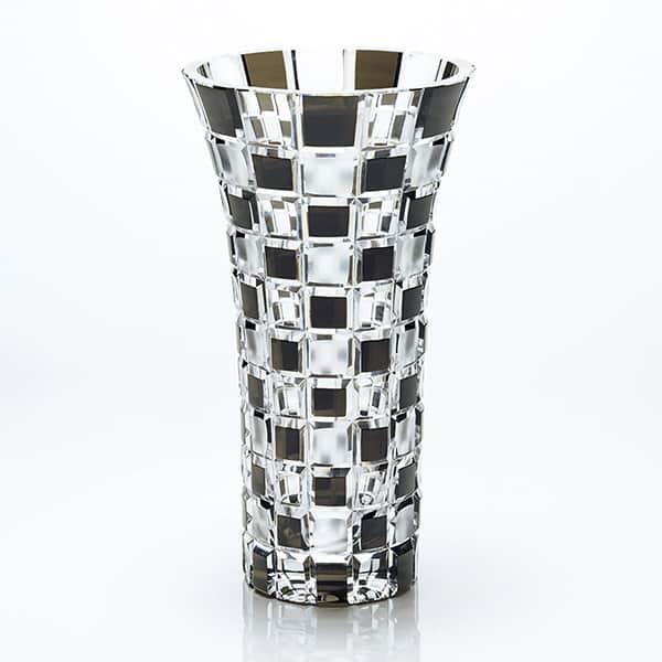 NARUMI グラスワークス アーバン 花瓶 ソーダガラス 黒