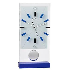 NARUMI グラスワークス リンツ 振り子時計 スタンド 光学ガラス