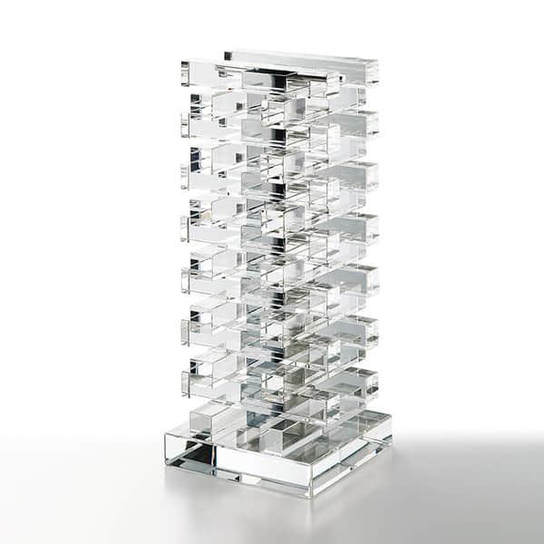 NARUMI グラスワークス アスカ ベース H 花瓶 光学ガラス