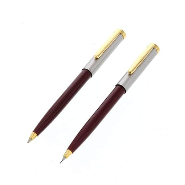 ビジネス文具セットスリム レトロ調ボールペン&シャープペン
