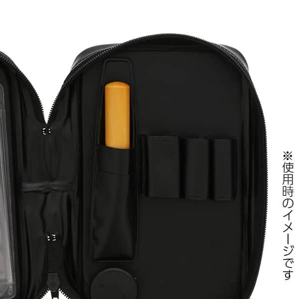 ビジネス文具フルセット手帳型 ラバーグリップボールペン&シャープペン ポケット電卓付き
