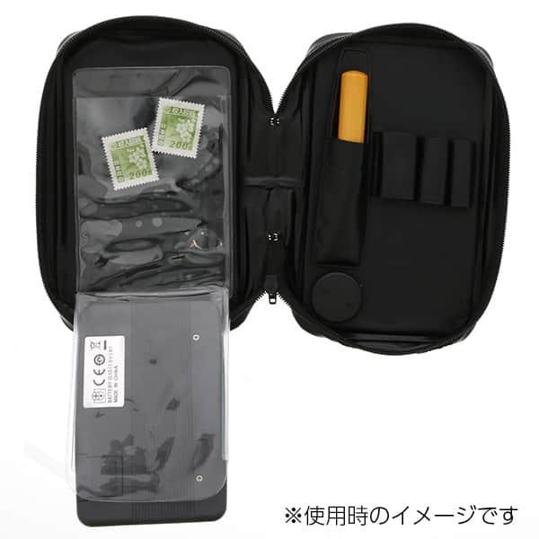 ビジネス文具フルセット手帳型 回転繰り出し式多機能ペン ボールペン2色+シャープペン ポケット電卓付き