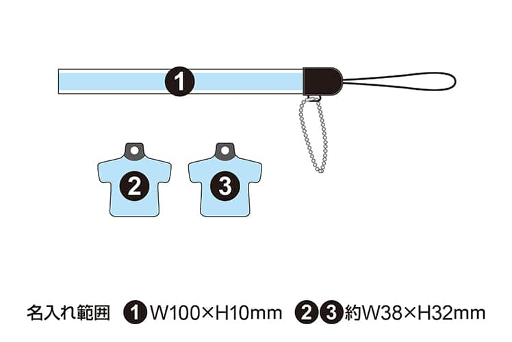 TEAM製 USBメモリ8GB付 制服ストラップ チャーム2個付属