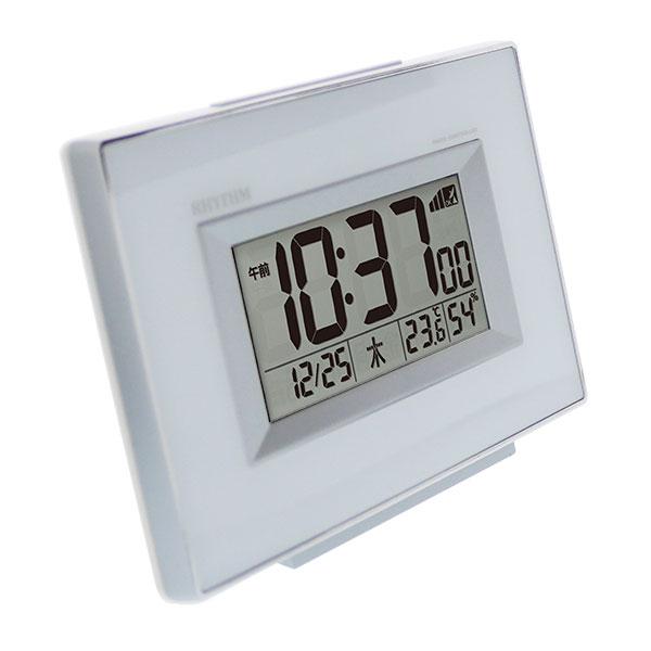 リズム デジタル電波時計 フィットウェーブD194 8RZ194SR
