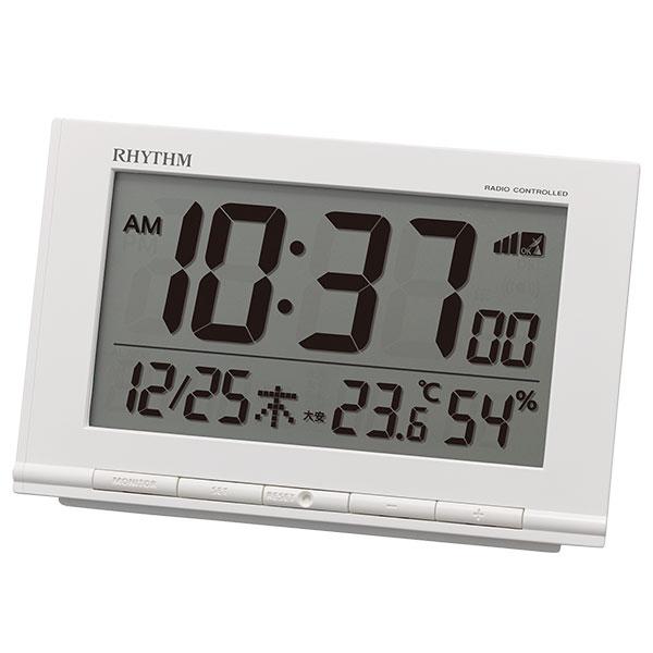 リズム デジタル電波時計 フィットウェーブD193 8RZ193SR03
