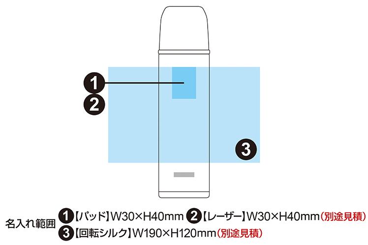 ピーコック ステンレスボトル コップタイプ 500ml ASH-50