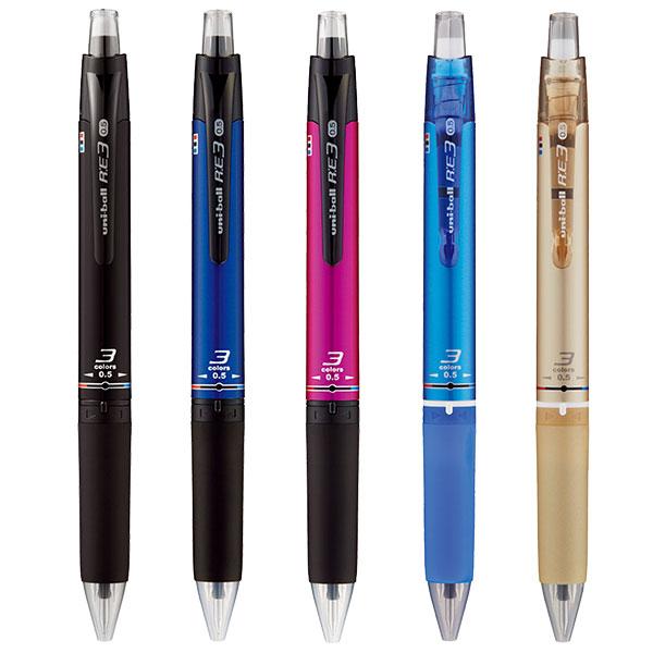 三菱鉛筆 ユニボール アールイー3 3色ボールペン 0.5mm URE3-500-05