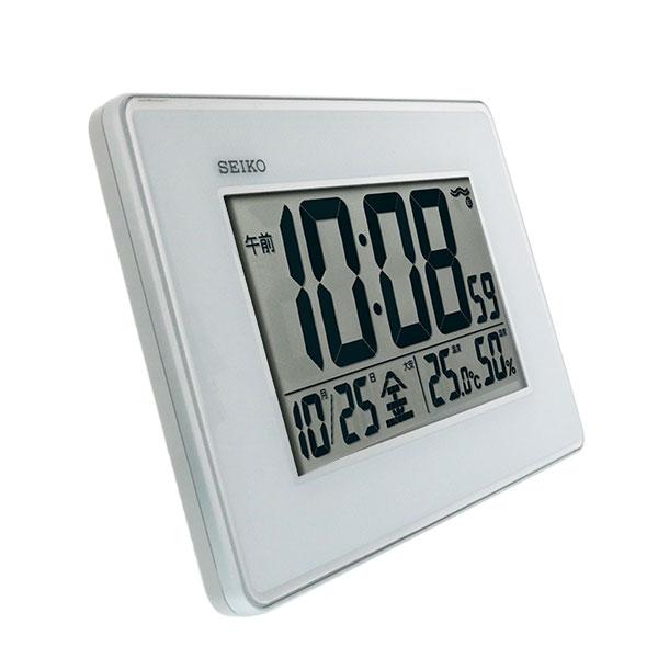 セイコー 掛け置き兼用デジタル電波時計 SQ443S