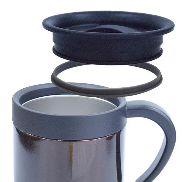 真空二重構造マグカップ 300ml(蓋付き)