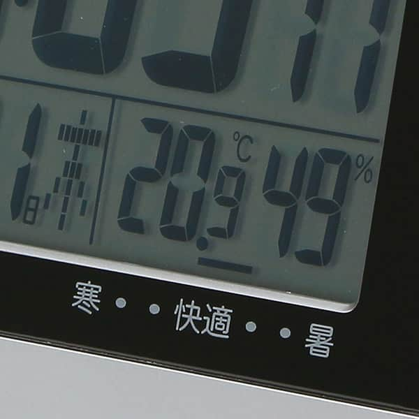 カシオ 温湿度計付 電波時計 DQD-710J-8JF