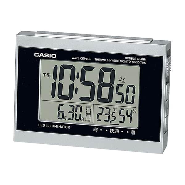 時計を代表するカシオの温湿度計付電波時計 DQD-710J-8JF