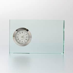 ガラス製 置時計 FLキューブ