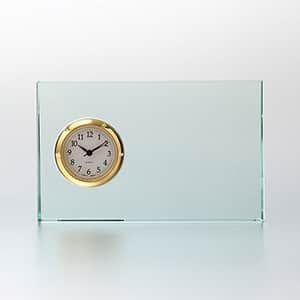 ガラス製 FLキューブ セイコータイムクリエーション社製時計付