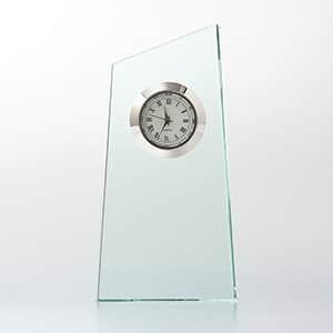 ガラス製 置時計 FLトロフィー