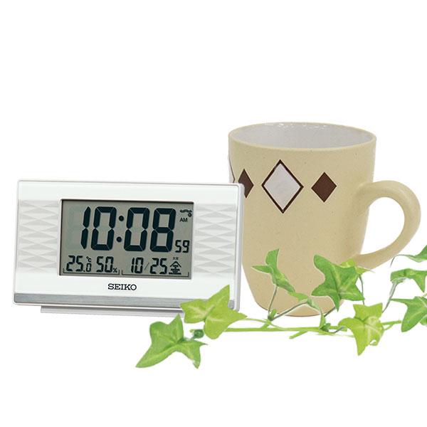 セイコー 温湿度計付電波時計 SQ791