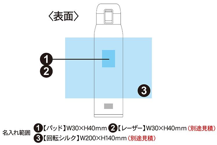 真空二重構造 クリーンパウダーワンタッチマグボトル 650ml