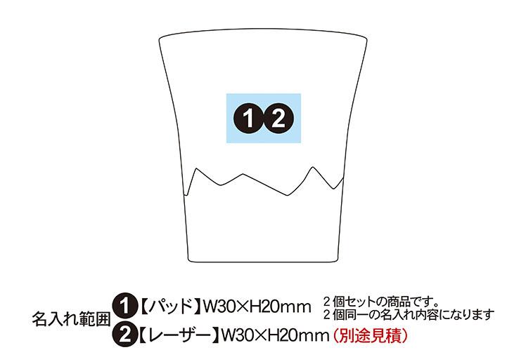 サエ 二重構造タンブラー 260ml 2個セット(富士山)
