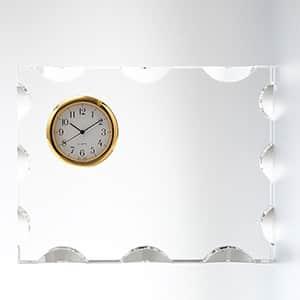 カットスクエアクロック S セイコータイムクリエーション社製時計付