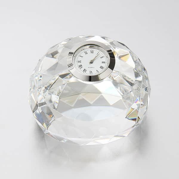 宝石のように輝き、フルカラー印刷も出来るダイヤカットクロック