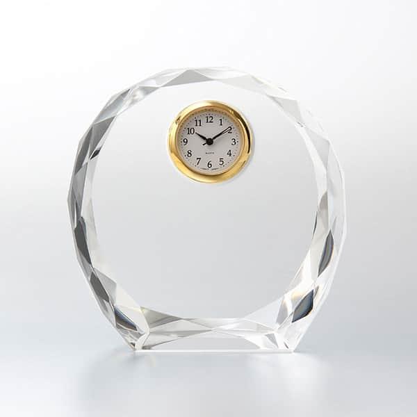 美しい輝きにひとめぼれ。ダイヤカットアーチクロック SEIKO時計付