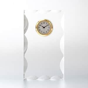 カットスクエアクロック SS セイコータイムクリエーション社製時計付