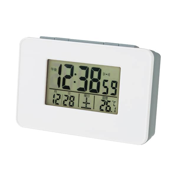 この価格帯で電波時計!?スマホサイズのシンプル電波目覚し時計