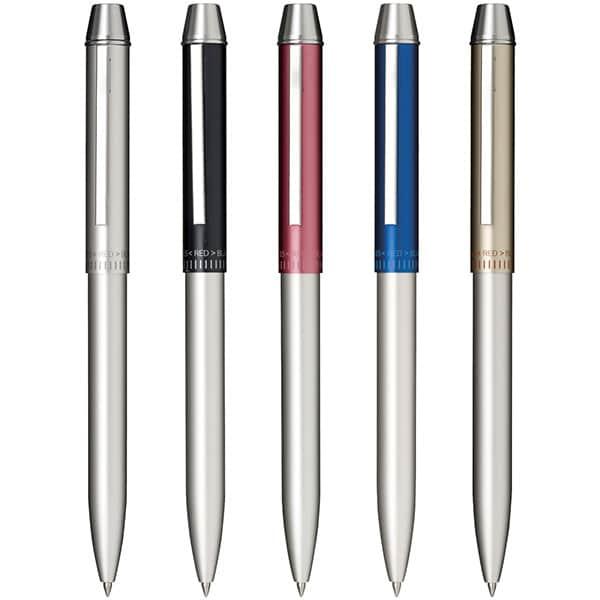軽量アルミボディが光る1本3役。セーラー多機能ペン メタリノマット