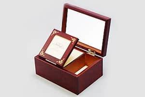 木製アクセサリーオルゴールボックス 小